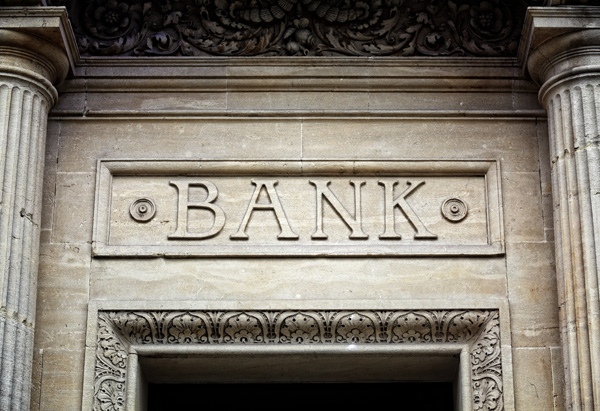 Image of a bank entrance