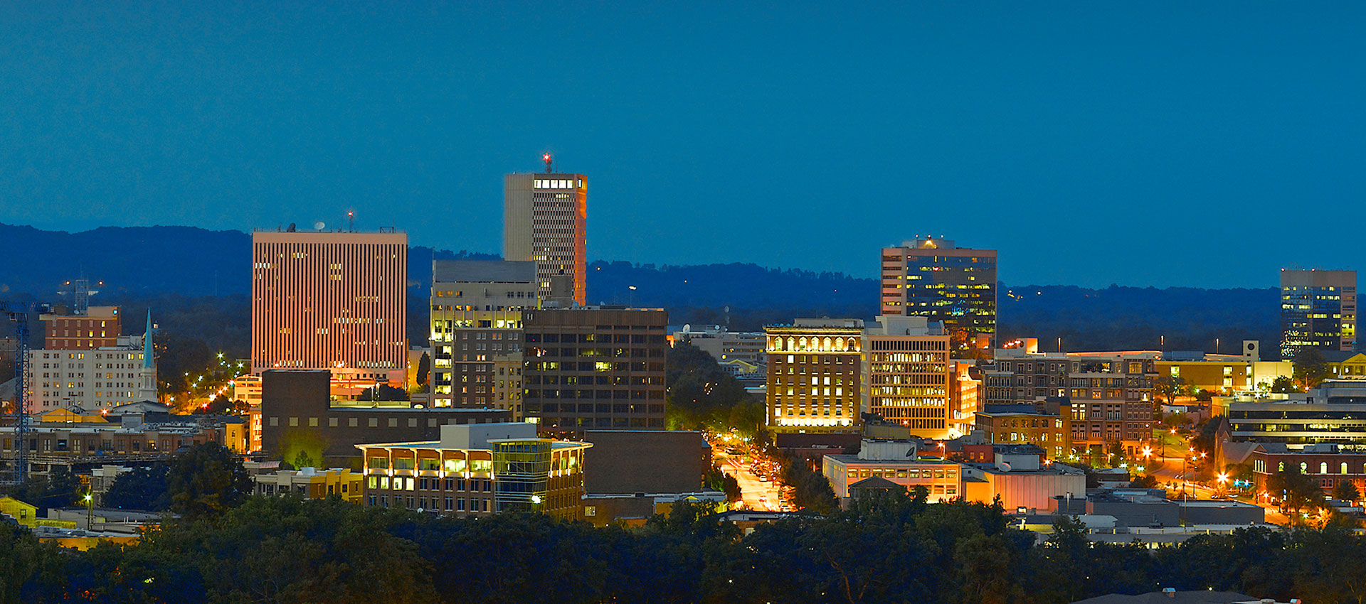Image of Greenville SC skyline