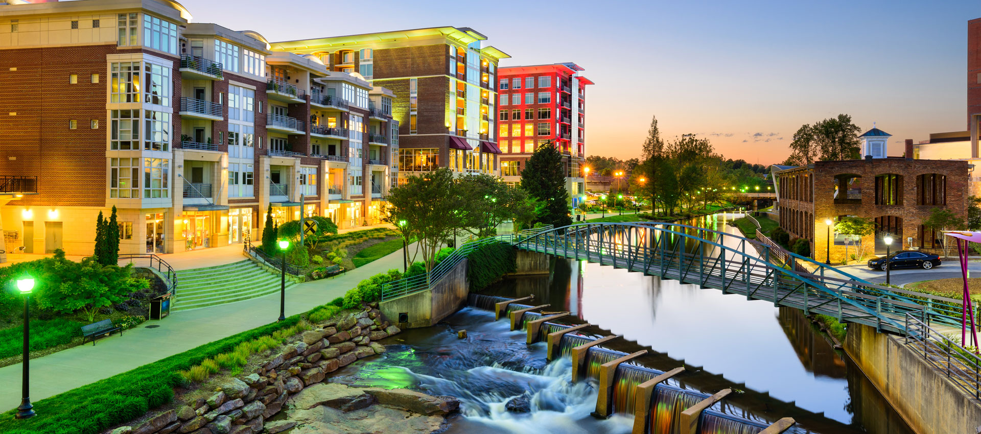 Image of downtown Greenville SC and HPLP Law